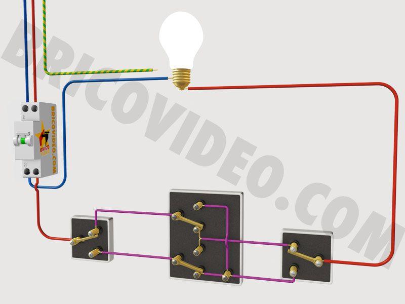 schéma électrique permutateur