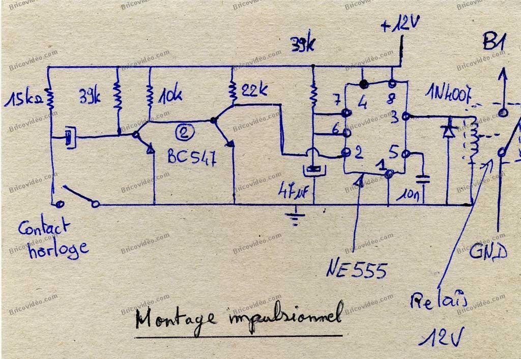 Schéma générateur d'impulsion