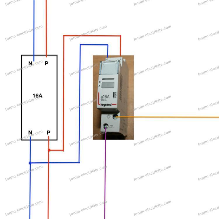 schéma installation télérupteur