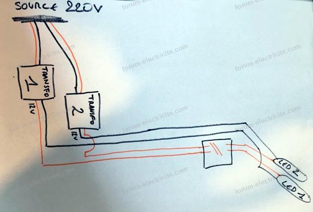 schéma installation transformateur en extérieur