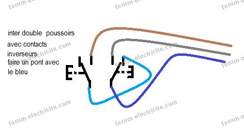 Schéma inter double poussoirs