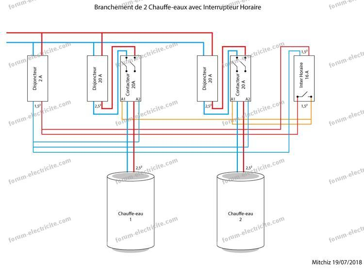 Forum électricité Horloge Digitale Pour Chauffe Eau