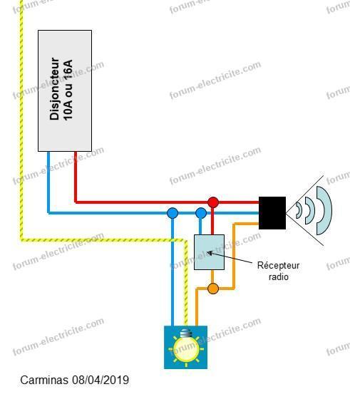 branchement interrupteur électronique avec détecteur