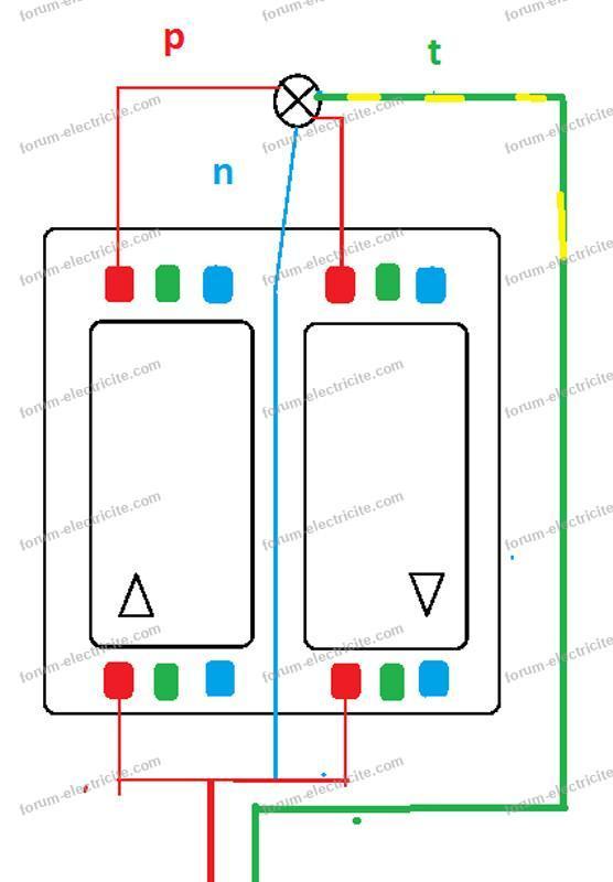 schéma interrupteur store