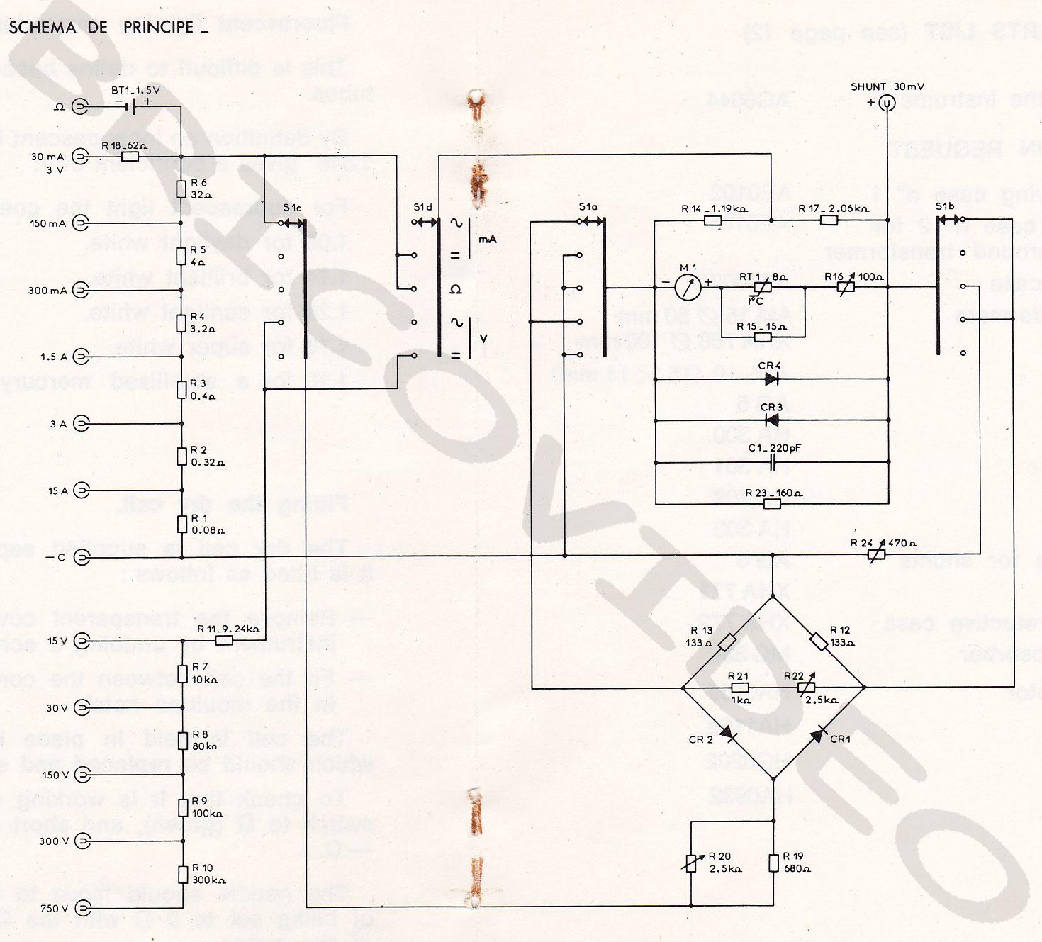 schema metrix mx453