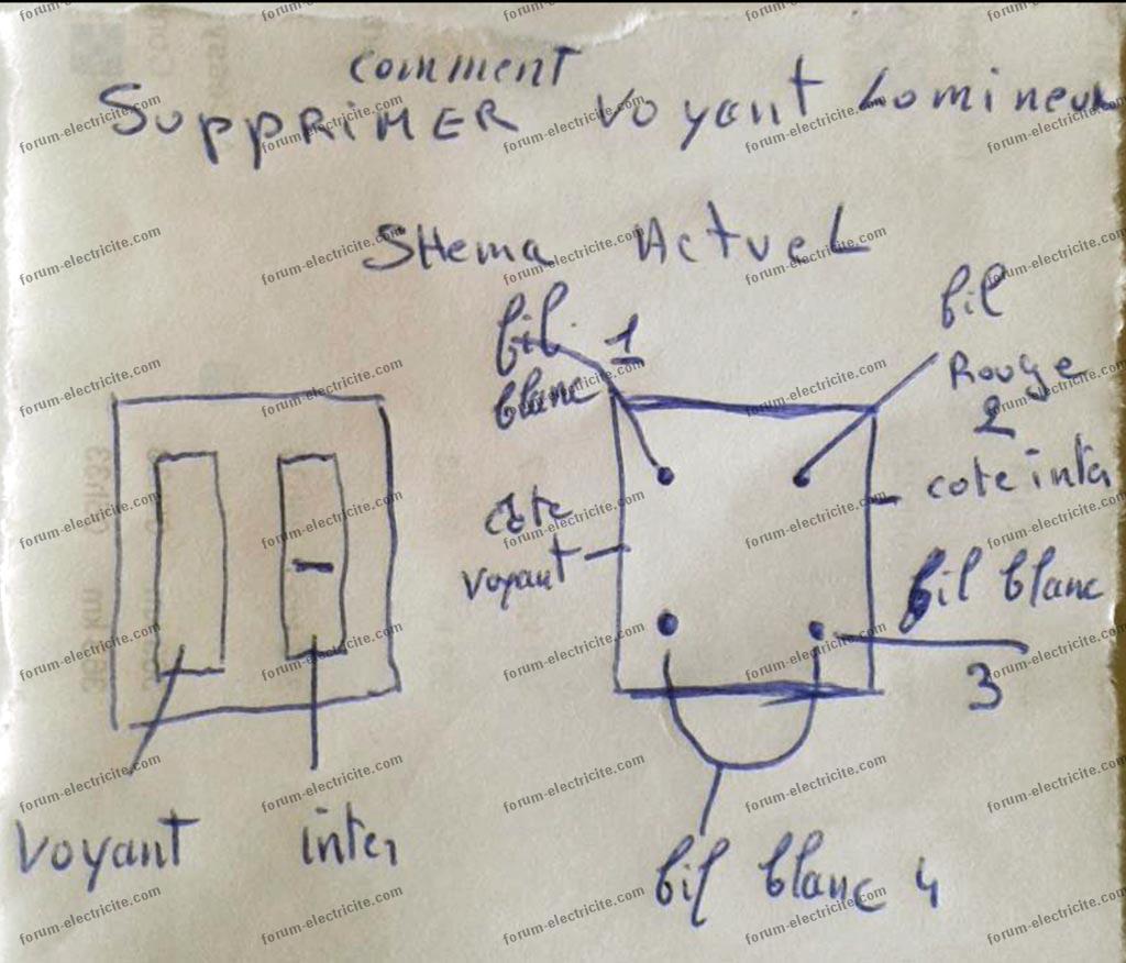 schéma modifiction branchement interrupteur