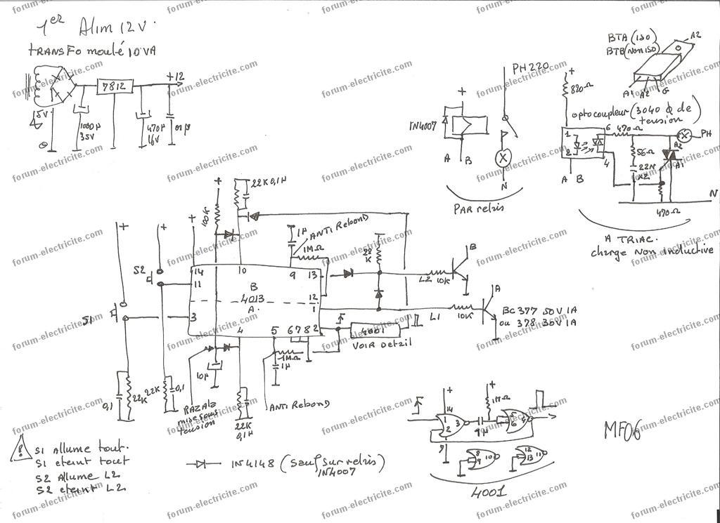 schema montage interrupteur a memoire