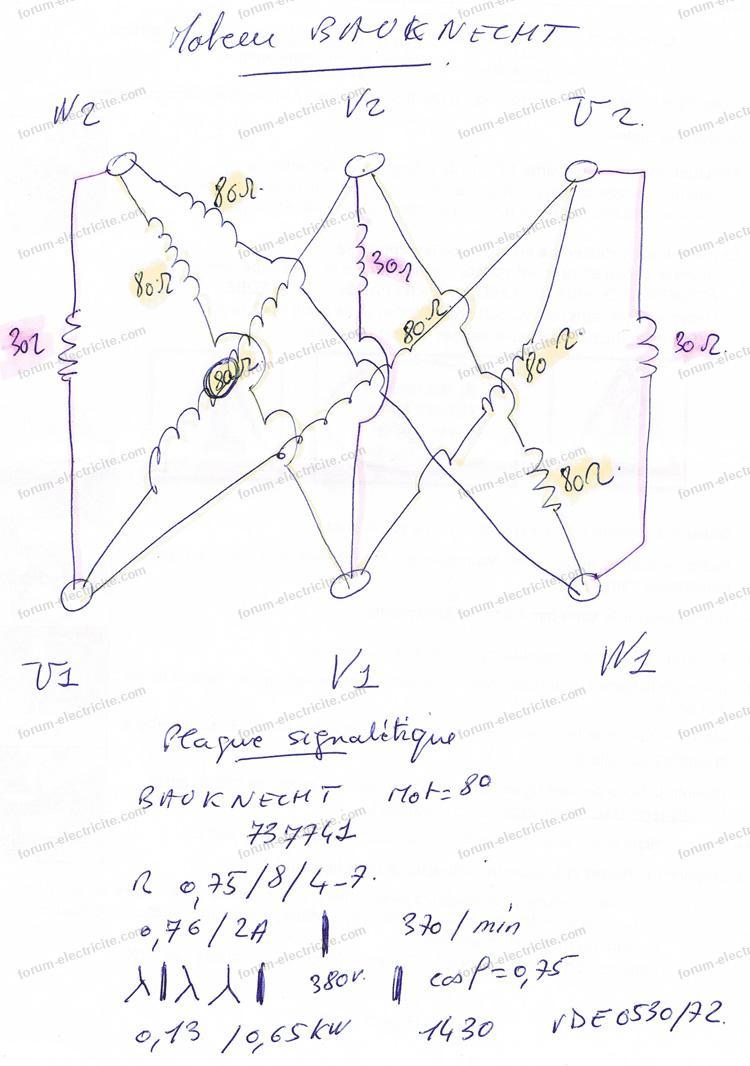 schema electrique moteur