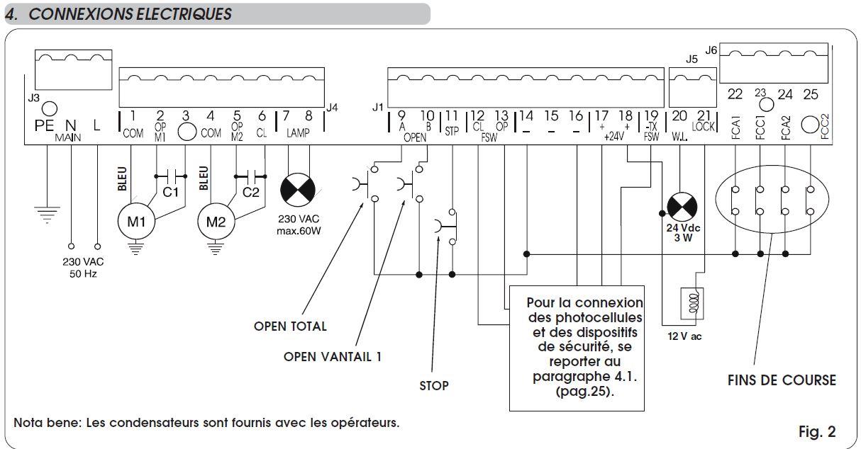 Ouvrir un portail via visiophone comment raccorder le contact sec la plati - Fonctionnement d un portail electrique ...