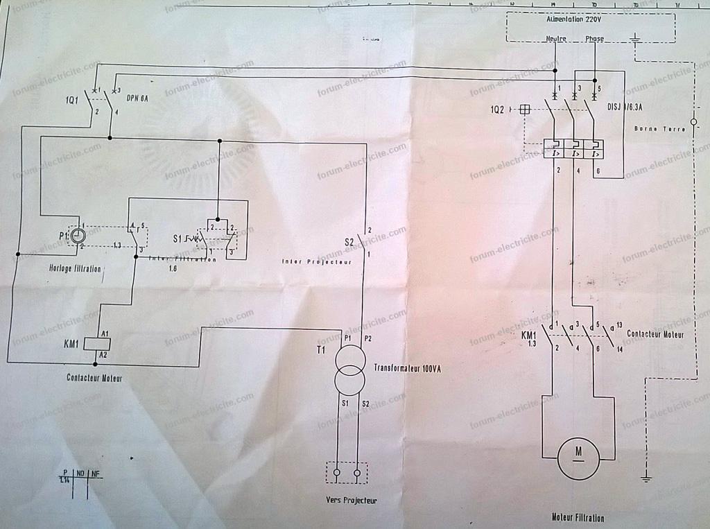 schéma pompe filtre piscine