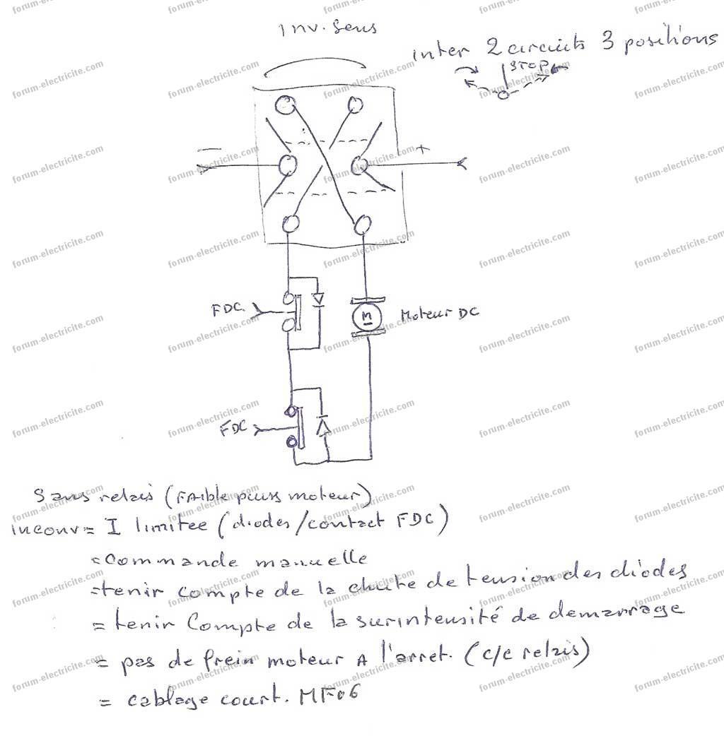 Schéma D Un Va Et Vient : Schéma pour fabriquer un portail électrique avec relais