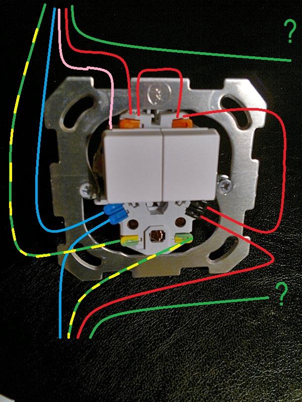 sch ma lectriques remplacement combin prise interrupteurs double allumage sch ma de c blage. Black Bedroom Furniture Sets. Home Design Ideas