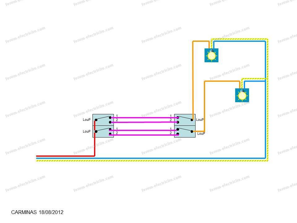 Schéma raccordement interrupteurs