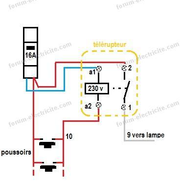 Schéma remplacement télérupteur 12 volts