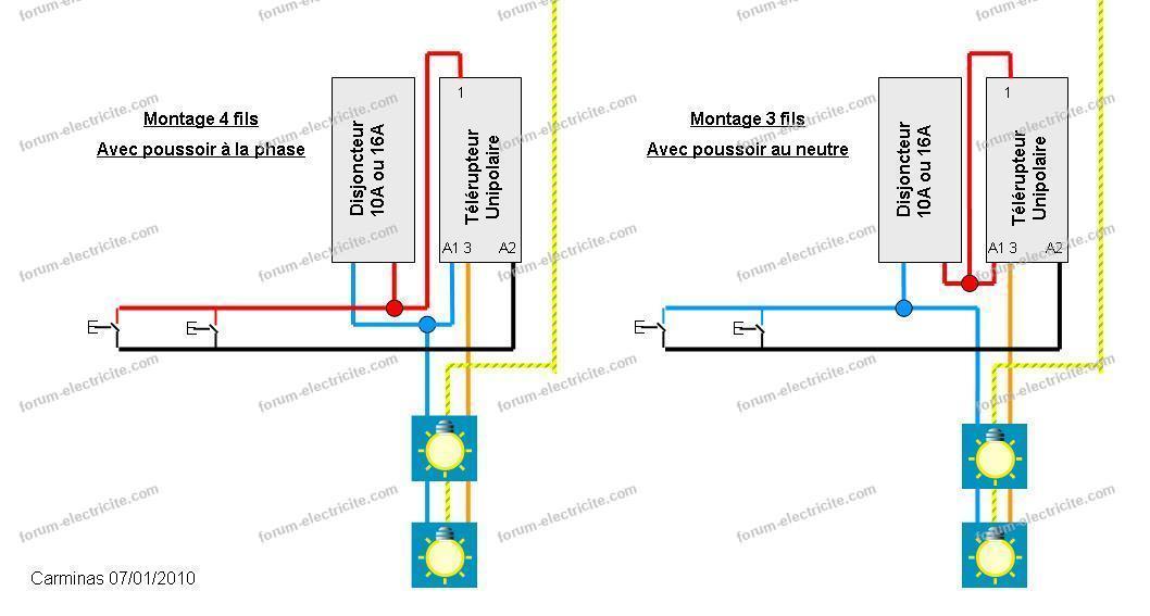 schéma télérupteur télérupteur