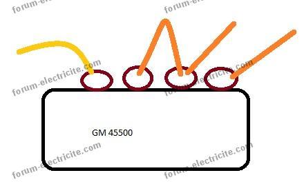 schéma branchement télérupteur GM 45500