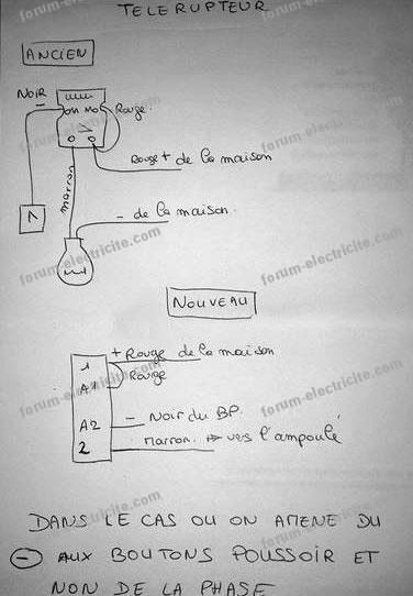 schéma branchement télérupteur