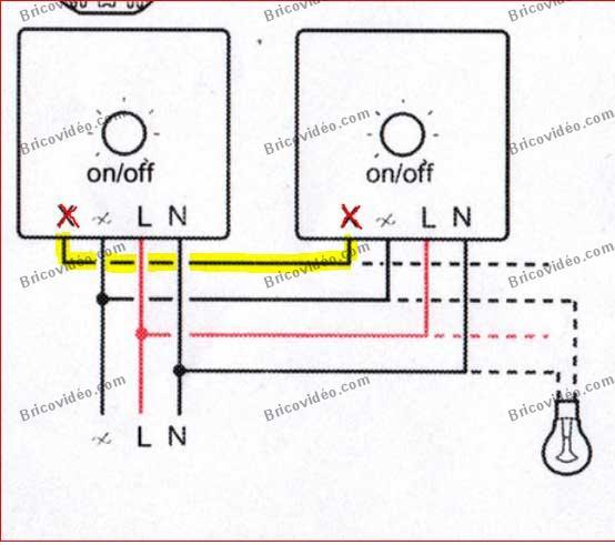Question travaux lectricit panne interrupteur tactile for Electricite va et vient schema