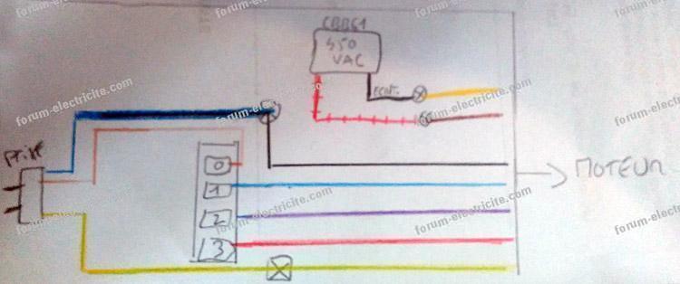 schéma variateur pour lampe halogène