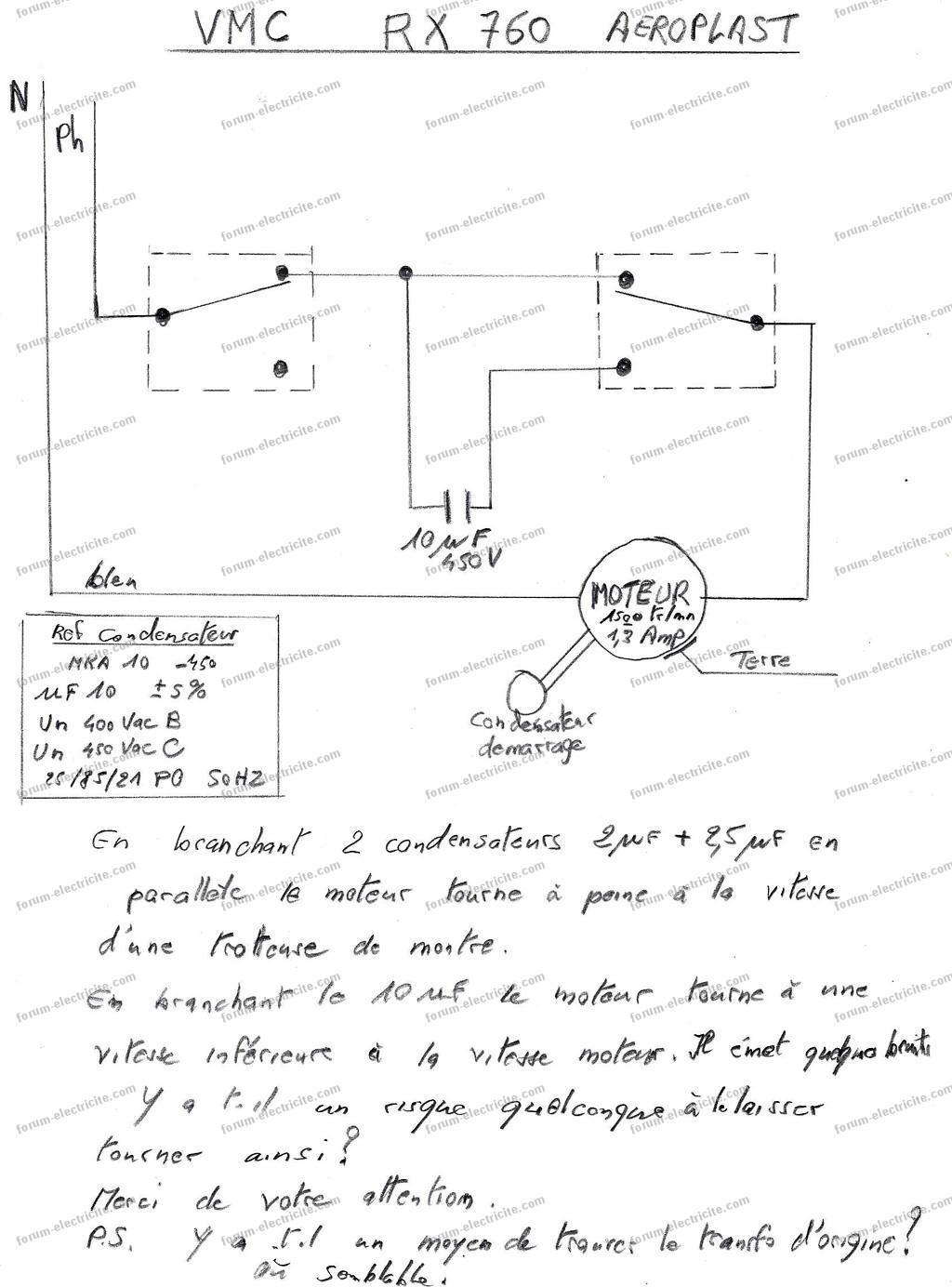 forum lectricit bricovid o vmc 3 vitesses ne fonctionne plus. Black Bedroom Furniture Sets. Home Design Ideas