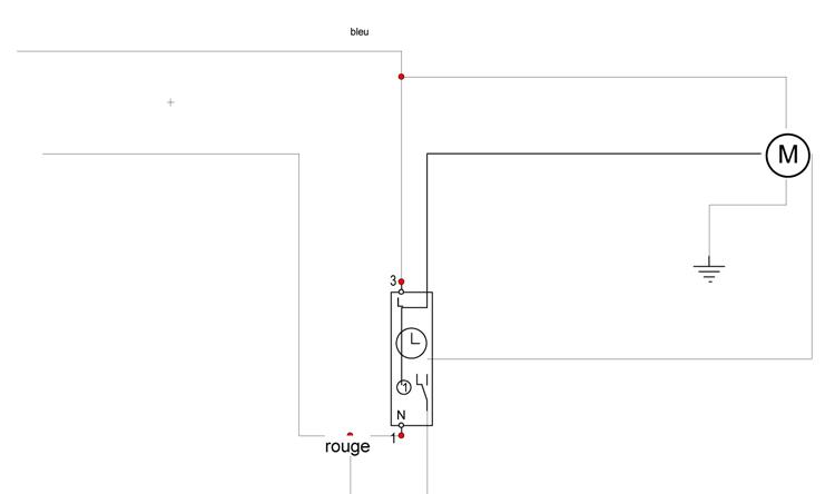 Probl me branchement interrupteur volet roulant question branchement lectrique - Probleme volet roulant electrique ...