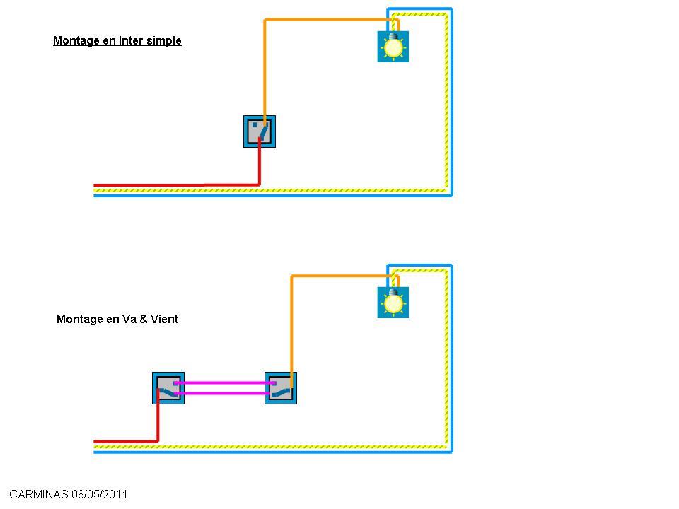 branchement deux les sur simple interrupteur 28 images. Black Bedroom Furniture Sets. Home Design Ideas