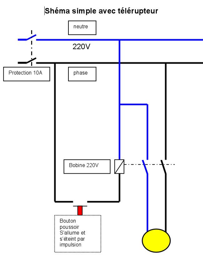 Schema electrique telerupteur pictures to pin on pinterest - Schema electrique telerupteur ...