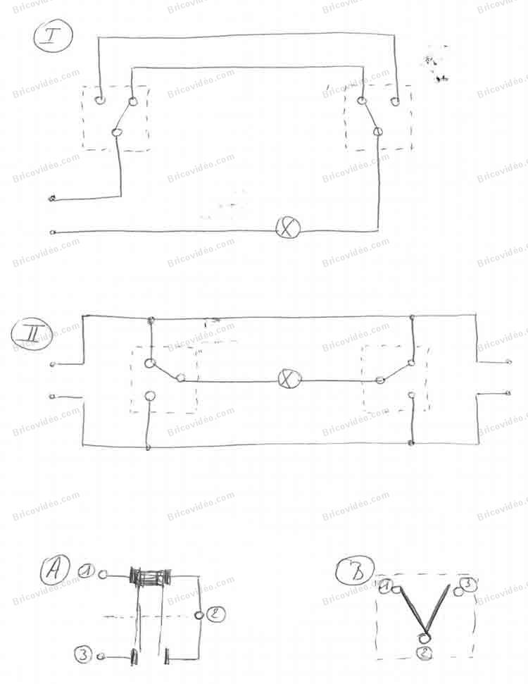 schémas câblage interrupteurs 2 directions