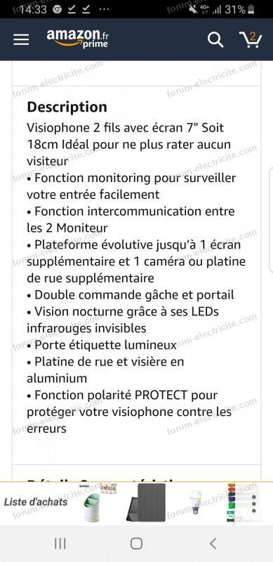Forum électricité Bouton Poussoir Sur Visiophone Extel Nova
