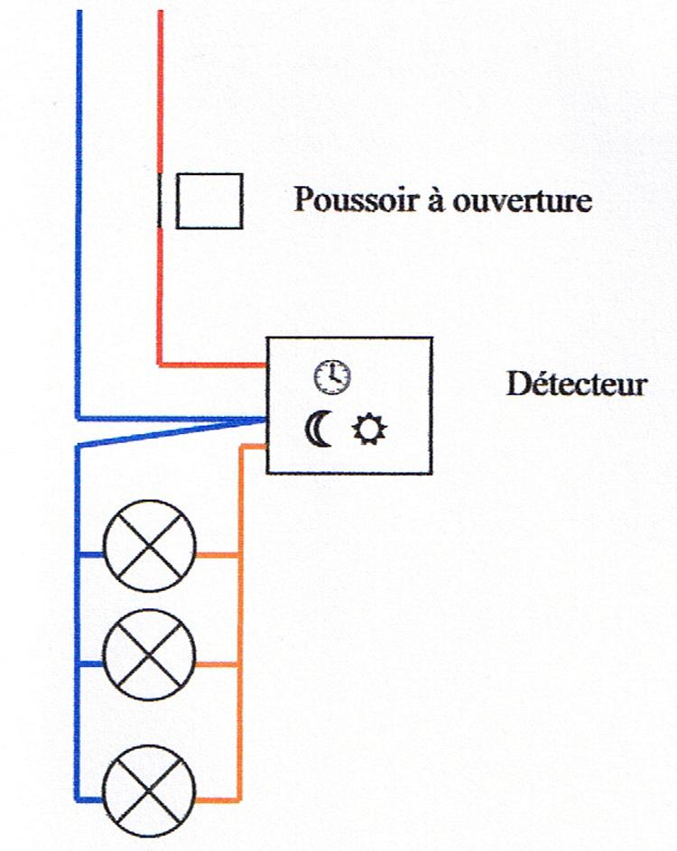 shema branchement detecteur lampes bv 01
