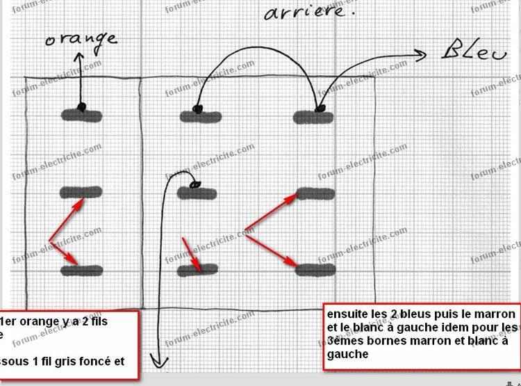 Schéma branchement contacteur 3 positions