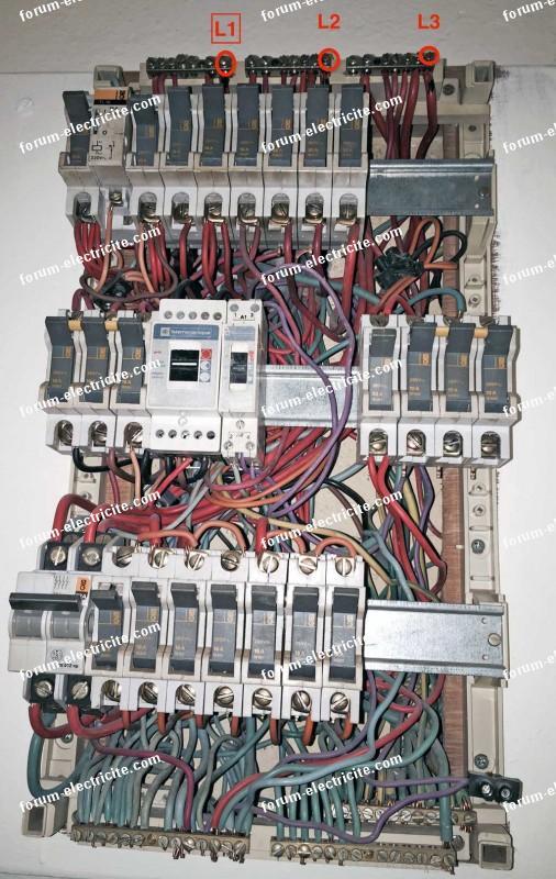 Tableau électrique ouvert