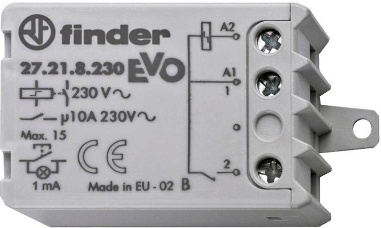 télérupteur Finder coupure 10 A Max 230 V/AC