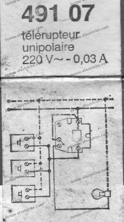 télérupteur 491 07 schéma boîte
