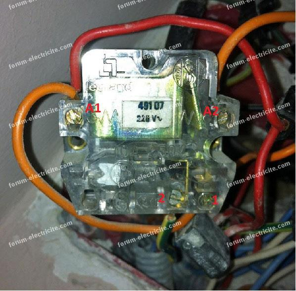 télérupteur fil orange