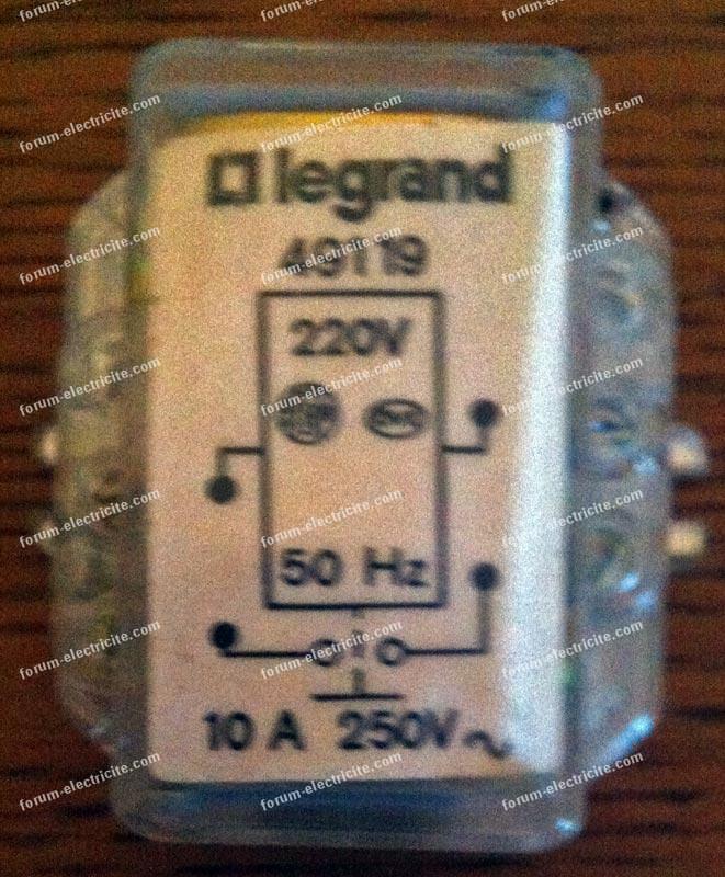 télérupteur Legrand 49119