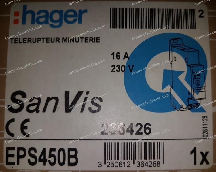 télérupteur minuteur Hager 236426