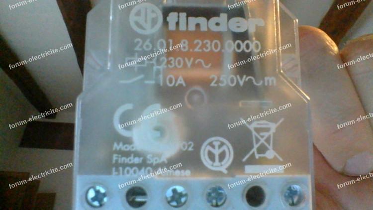 télérupteur pour encastrement Finder