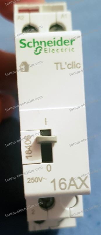 télérupteur Schneider Electric TL'clic 16A 250V