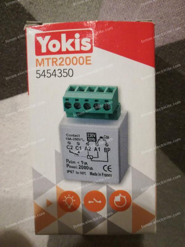 branchement télérupteur Yokis
