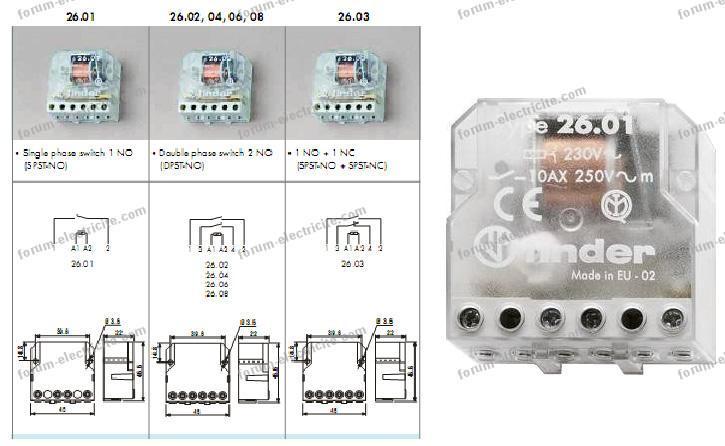 telerupteurs electromecaniques