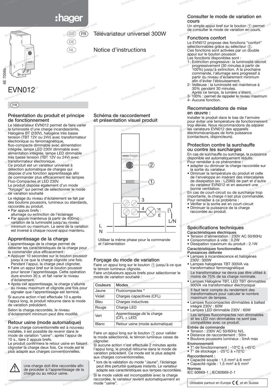 questions  u00c9lectricit u00e9   branchement t u00e9l u00e9variateur ne