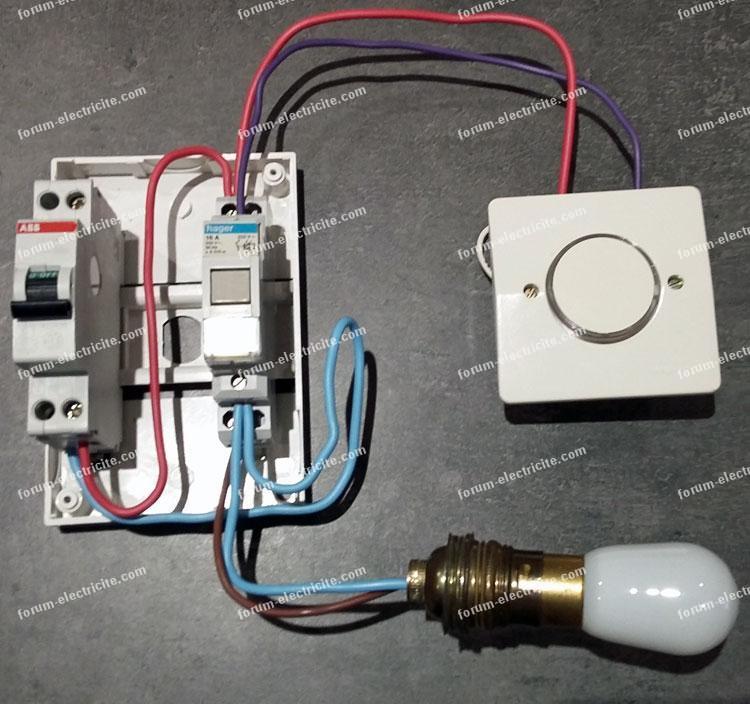 test montage télérupteur unipolaire