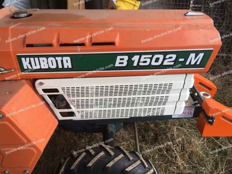 tracteur Kubota B1502-M