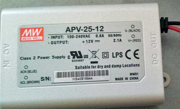 Transformateur luminaire led 12V 2.1A