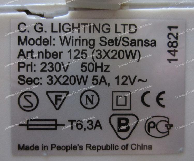 Électricité Problèmes Transfos D'éclairage Basse 2 Forum Question ym6vYbfgI7