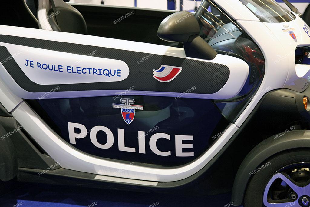 twizy voiture électrique police