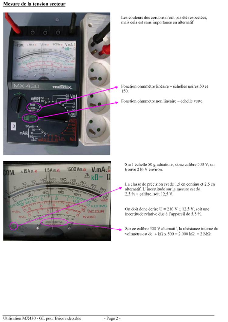 utilisation multimetre bv0613