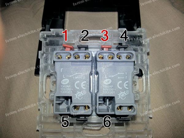 Comment brancher un interrupteur double va et vient avec 3 fils conseils branchement lectrique - Branchement luminaire 3 fils ...