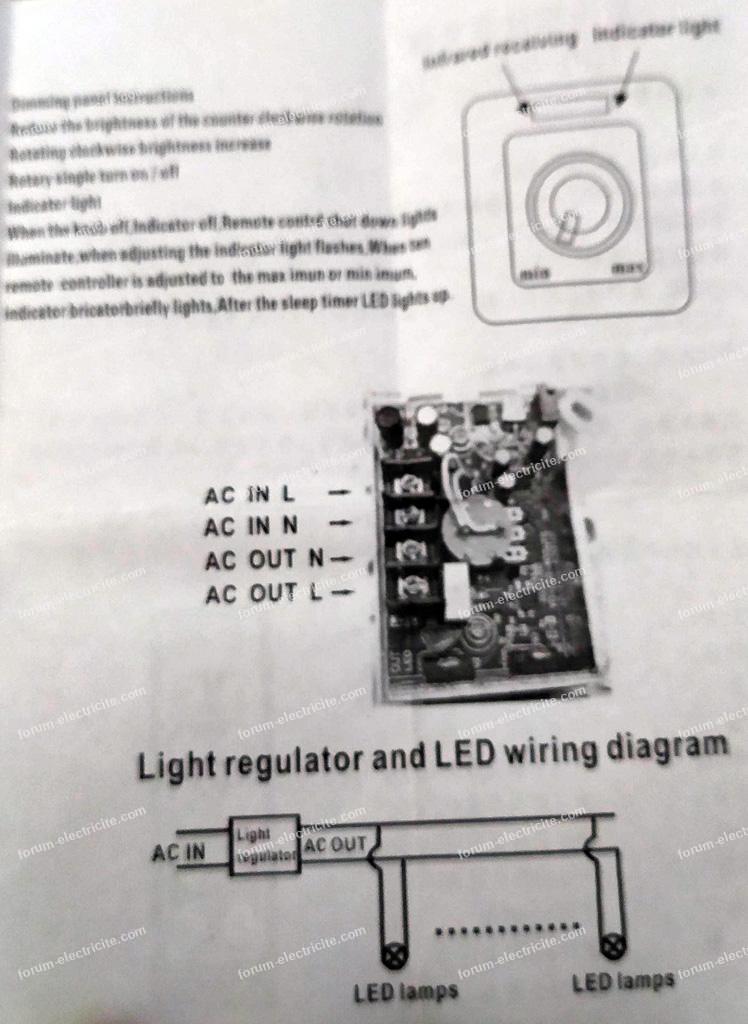 schéma branchement variateur de lumière